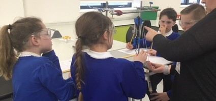 Sturry Primary School Test Pulleys in our Science Department