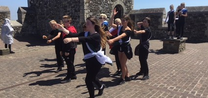 Students perform in Macbeth at Dover Castle