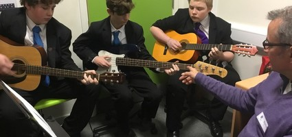 Guitar lessons available every Friday (please contact swood@e21c.co.uk for more information)