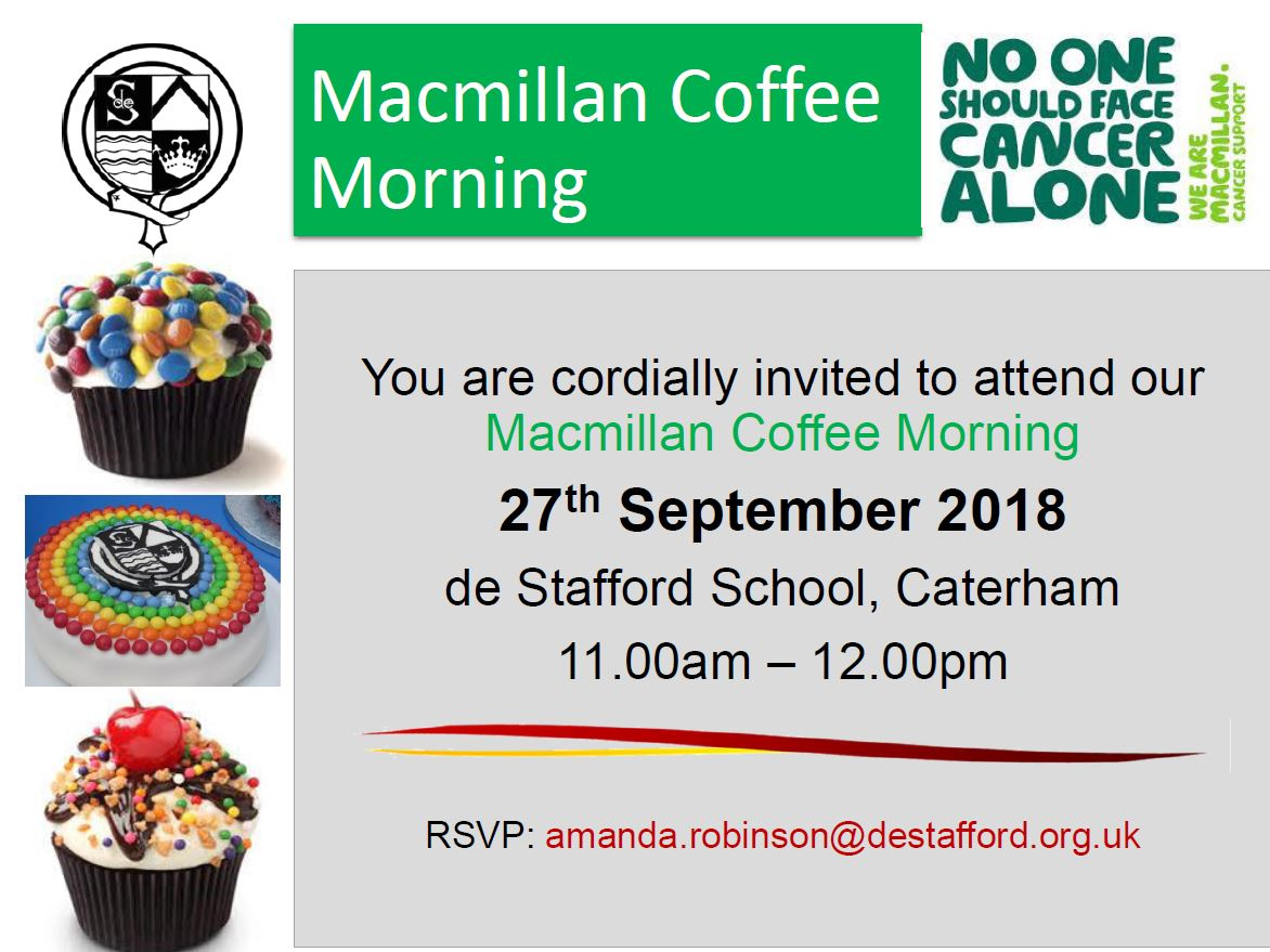 Macmillan Coffee Morning Invitation