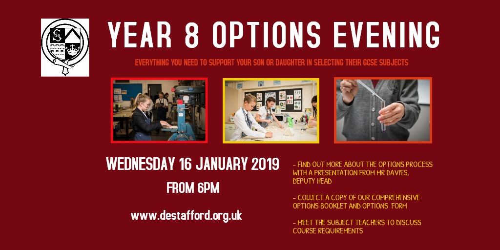 Options Evening 2019   Online Advert