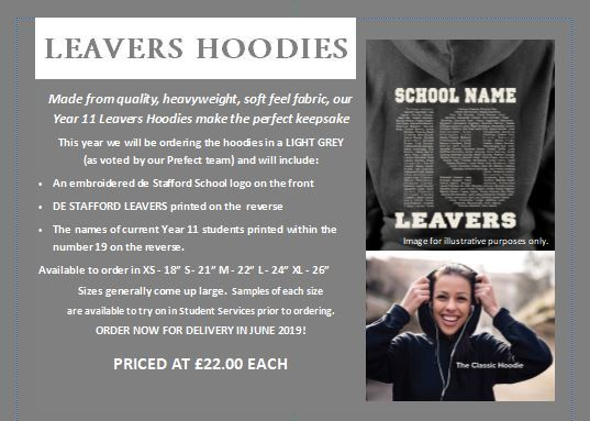 Leavers Hoodies visual