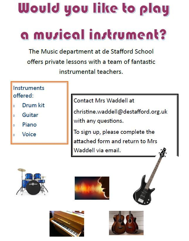 Instrument tuition