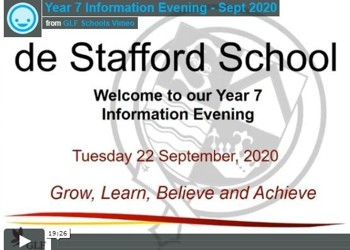 Year 7 Information Evening - Sept 2020