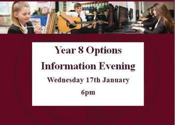 Year 8 Options Information Evening