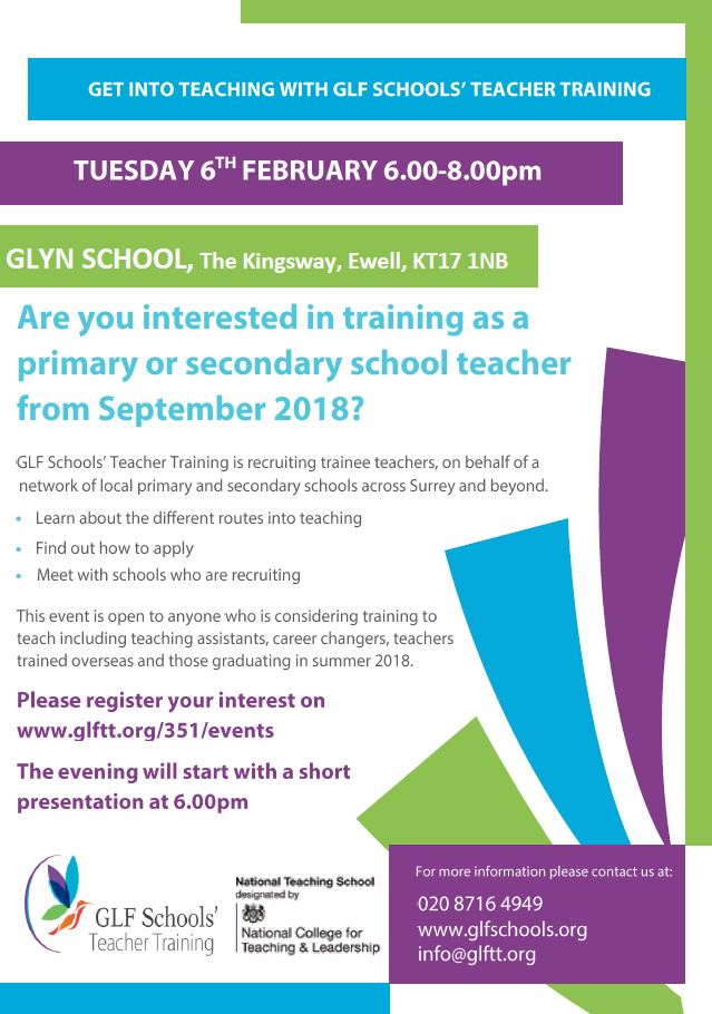 GLF Get Into Teaching Event