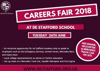 de Stafford School Careers Fair 2018