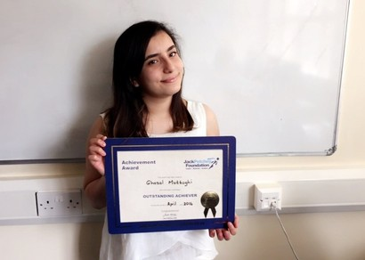 Jack Petchey Award Winner April 2016
