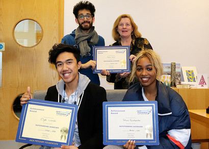 Jack Petchey Award Winners at St. Charles September to November 2018