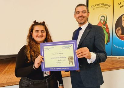 The new term gets off to a good start with our Jack Petchey September 2020  Award Winner - Marimar Antypa