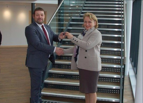Keys to Art and Maths Block Handed Over