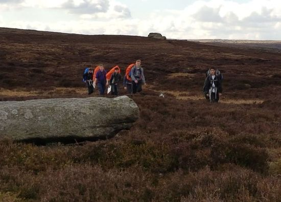 Duke of Edinburgh students train for Gold Expedition in Peak District