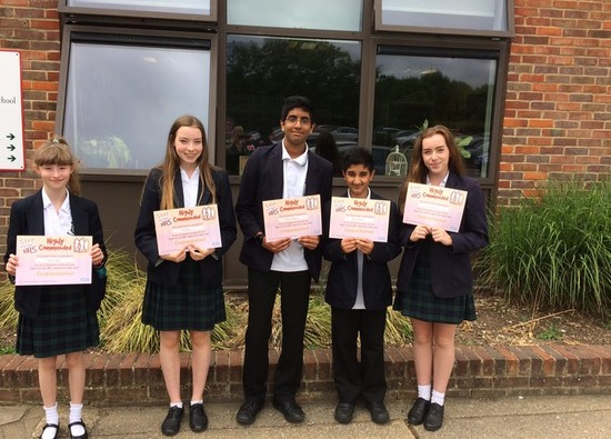 Students highly commended in national NHS competition