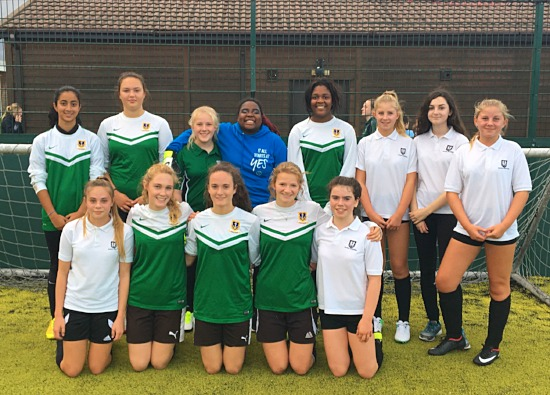 Fantastic Football played at Girls' Power League Tournaments