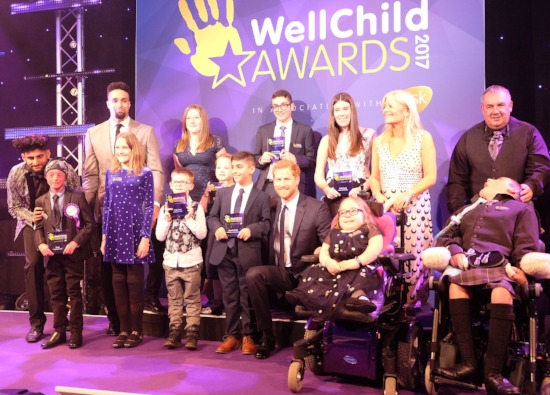 Inspirational Sasha receives WellChild Award from Prince Harry