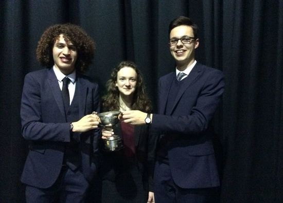 Year 12 students celebrate winning Sixth Form Public Speaking Contest