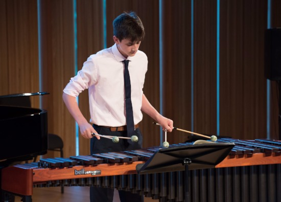Alex in BBC Young Musician Percussion Category Final