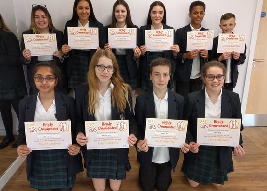 Students are highly commended in annual NHS Schools' Competition