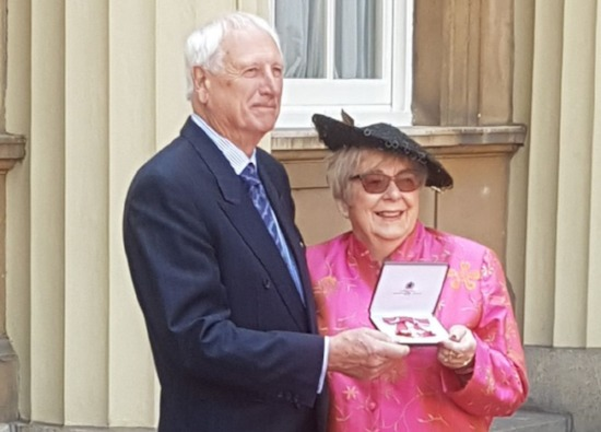 Rosemary receives MBE from the Queen