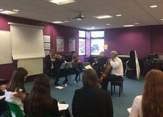 Maggini Quartet lead workshop for Year 12 Musicians