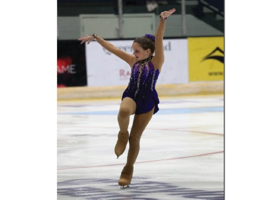 Evie first in national ice skating competition