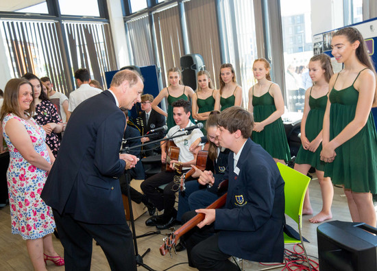 Students meet HRH The Earl of Wessex at University of Hertfordshire