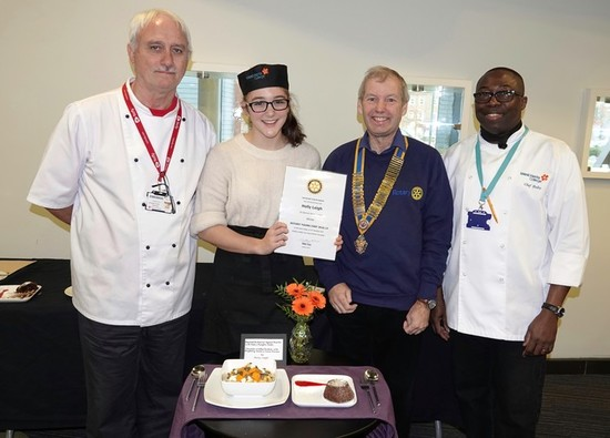 Hollie wins heats of Rotary Club Young Chefs Competition