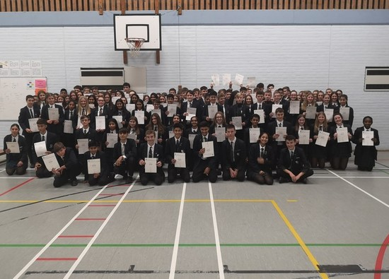 Students awarded Duke of Edinburgh Award certificates