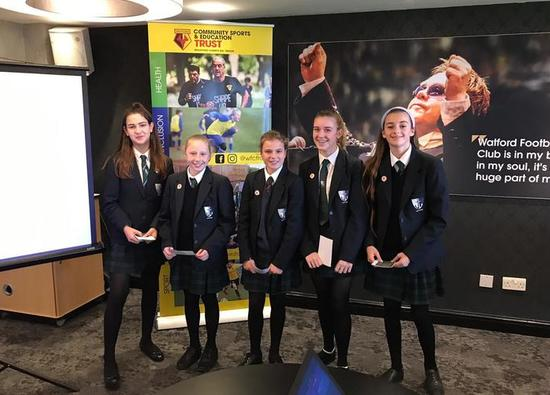 Students rise to a challenge at Vicarage Road!