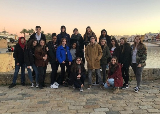 Spanish Exchange students visit Seville