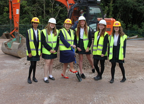 Year 10 students and Dr Valentine start work on the foundations