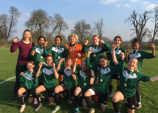 U13 Girls Footballers District Champions