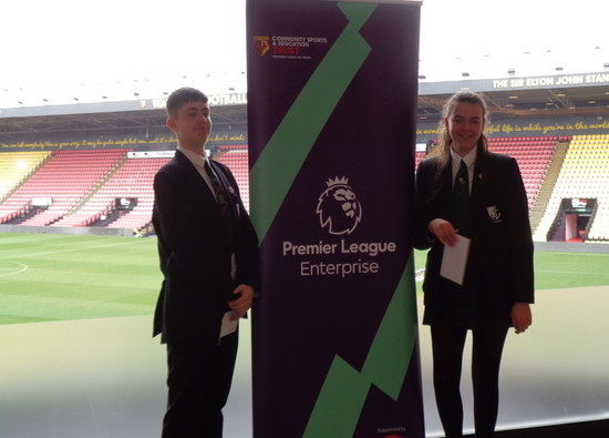 Students complete Watford F C Premier League Enterprise Programme