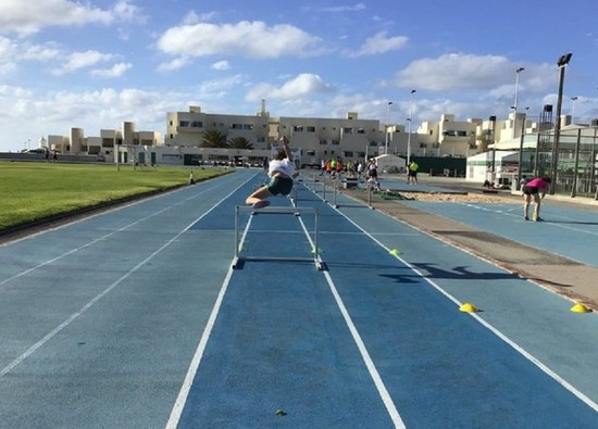 Athletics students train for athletics season in Lanzarote
