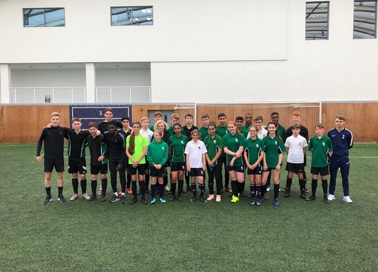 KS3 footballers coached at Tottenham Hotspurs!