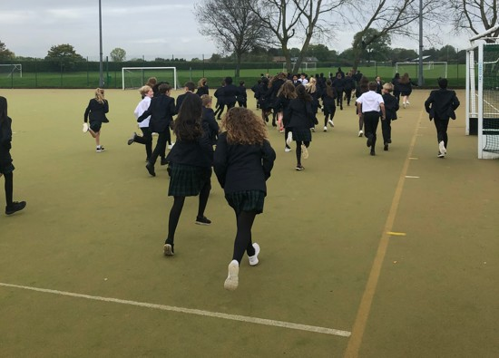 Year 7 students embrace the weekly walk a mile initiative!