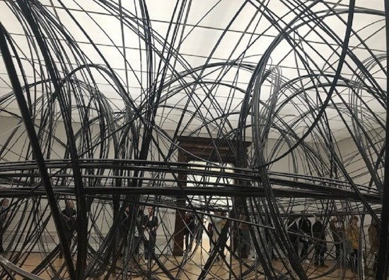 A level Art students visit Antony Gormley Exhibition at Royal Academy