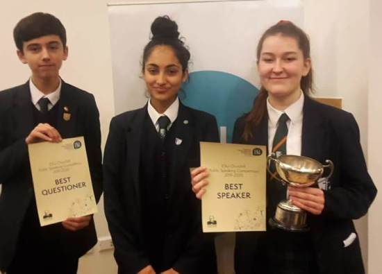 A fantastic performance at ESU Public Speaking Competition