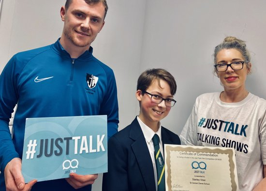 Stanley wins Herts Public Health  #JustTalk Film Competition