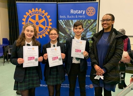 Success at Rotary Club Youth Speaks Competition!