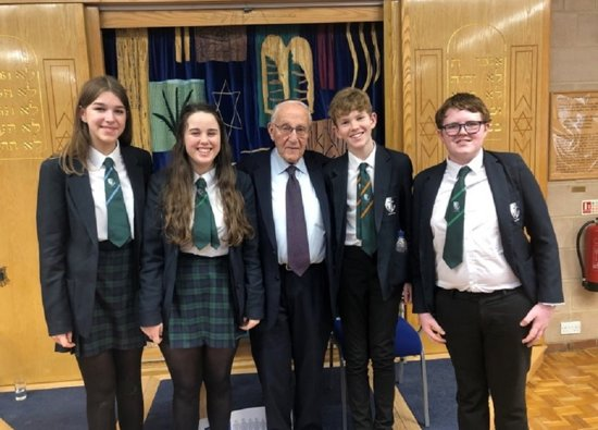 Year 9 students attend Holocaust Memorial Day at Synagogue