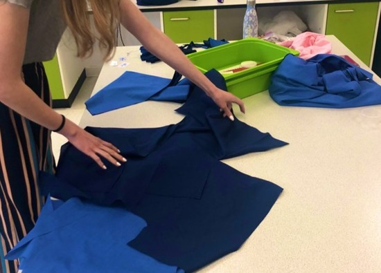 Textiles students make scrubs for NHS Heroes!