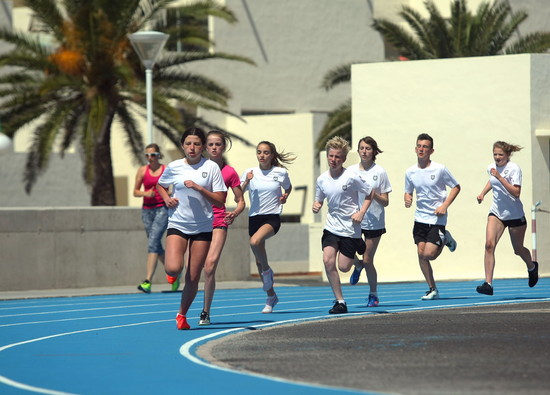Students' Easter training camp in Lanzarote