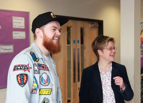 Staff and students enjoy surprise visit by Jack Garratt