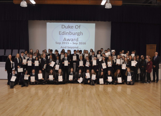 Bronze Duke of Edinburgh Certificates Awarded
