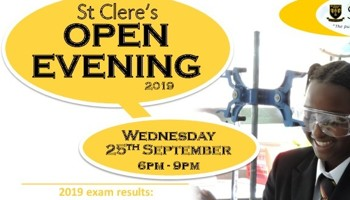 Open Evening September 25th 2019