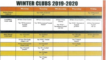 Winter Clubs List