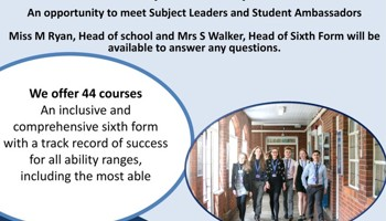 Brentwood County High Sixth Form Open Evening