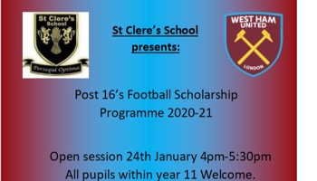 West Ham Post 16 Football Scholarship 2020-21