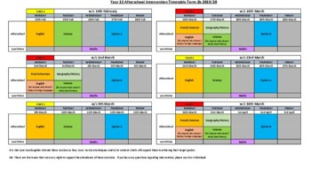 After School Revision Year 11 Term 2